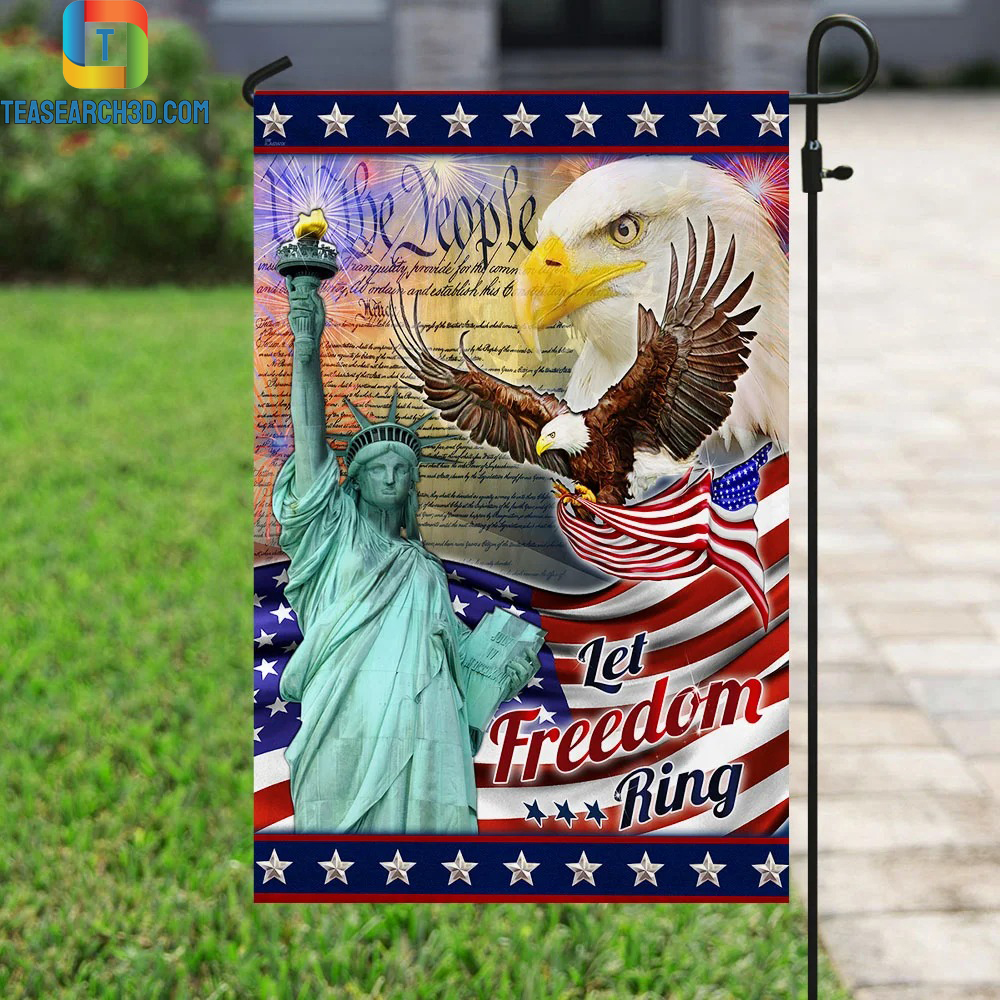 Let Freedom Ring Eagle American Flag 2