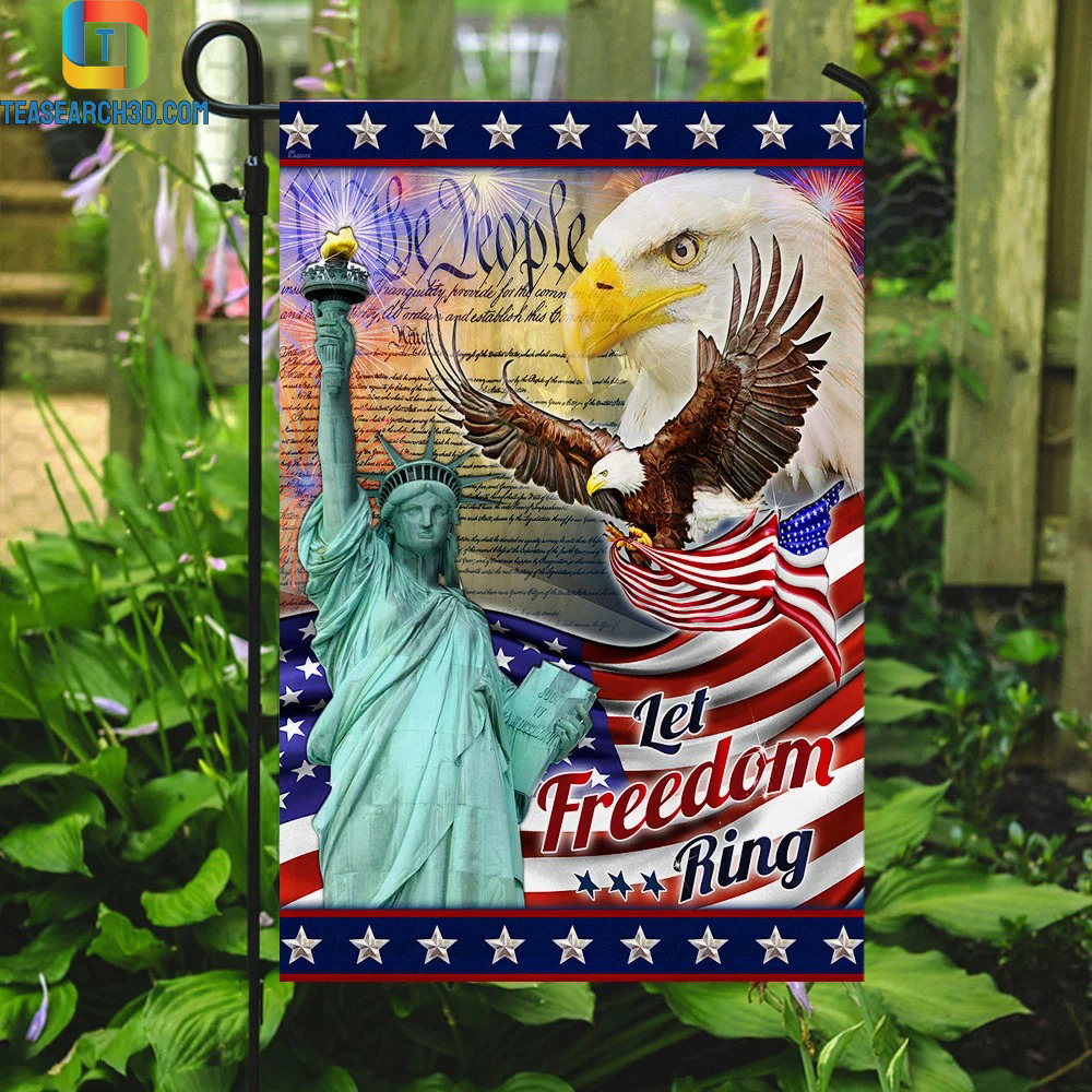 Let Freedom Ring Eagle American Flag 3