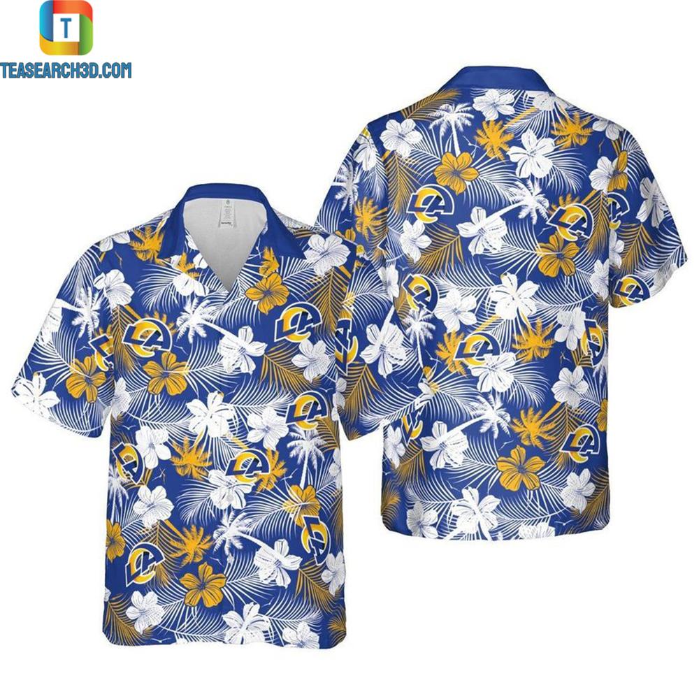 Los angeles chargers floral nfl football hawaiian shirt 1