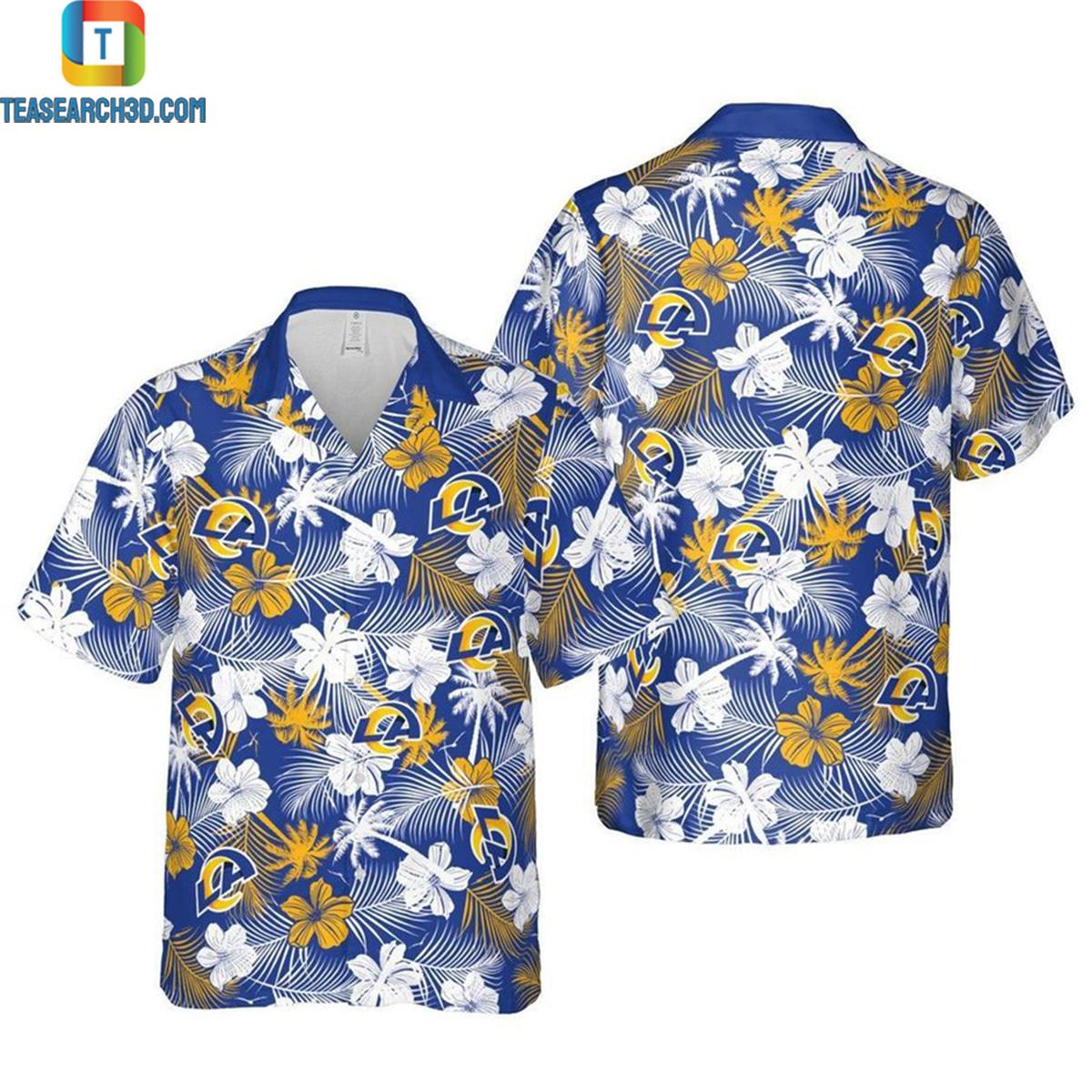 Los angeles chargers floral nfl football hawaiian shirt 2