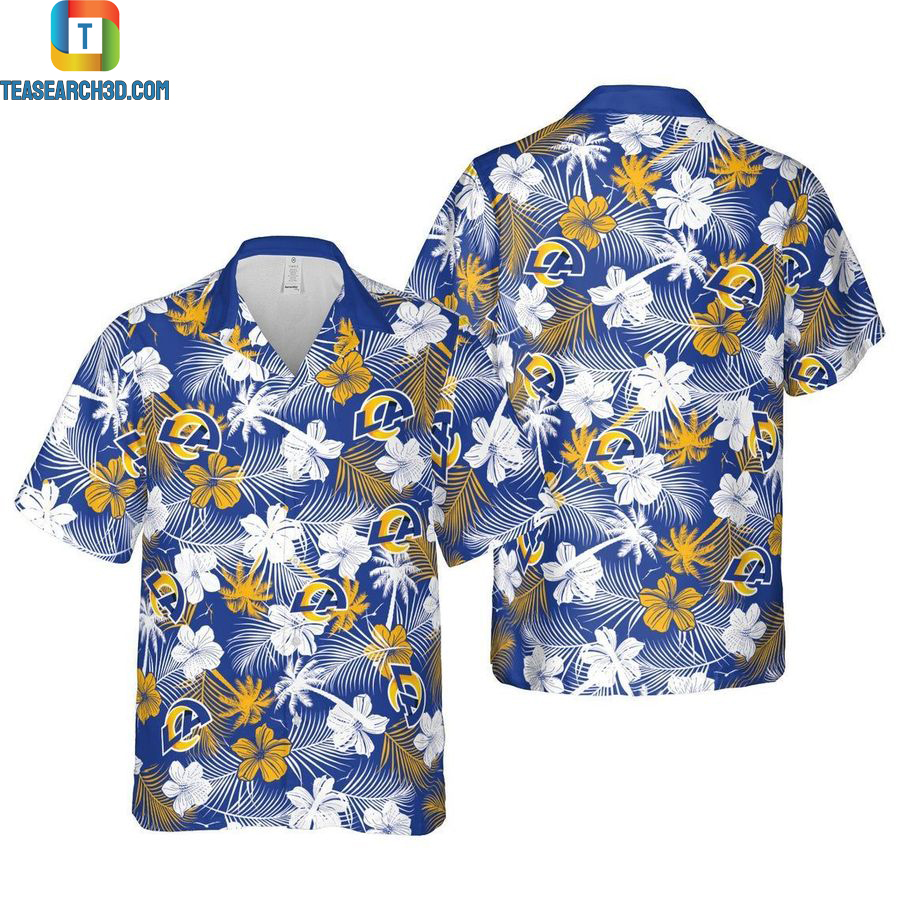 Los angeles chargers floral nfl football hawaiian shirt