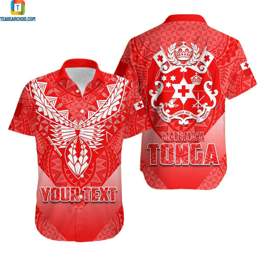 Mate Ma'a Tonga Rugby Polynesian personalized hawaiian shirt