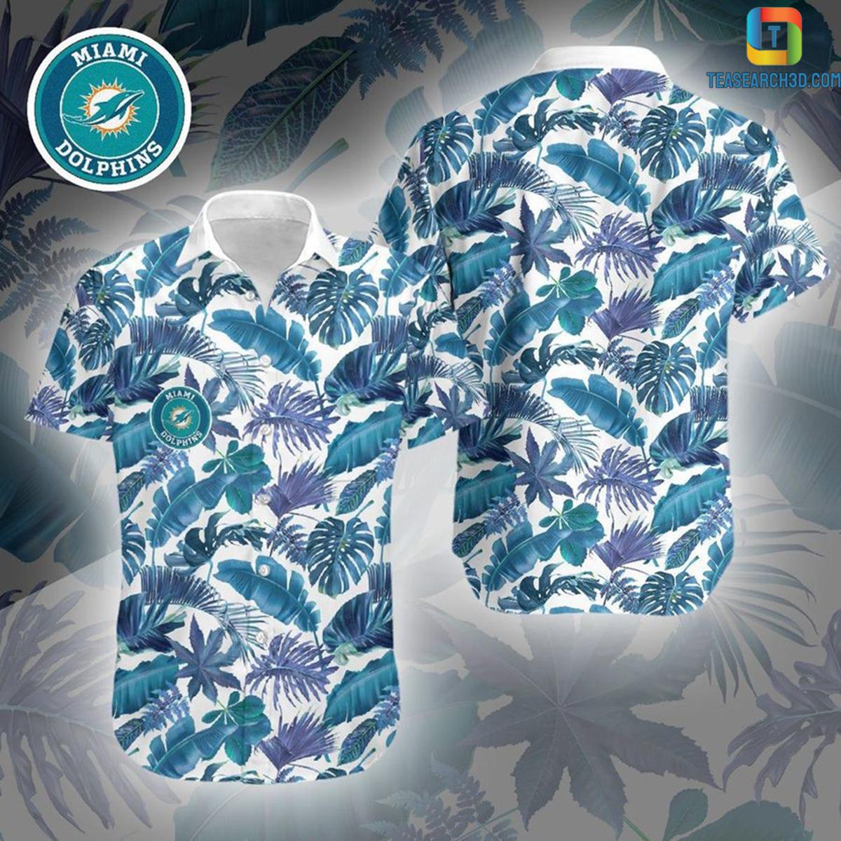 Miami dolphins 3D nfl football hawaiian shirt 2