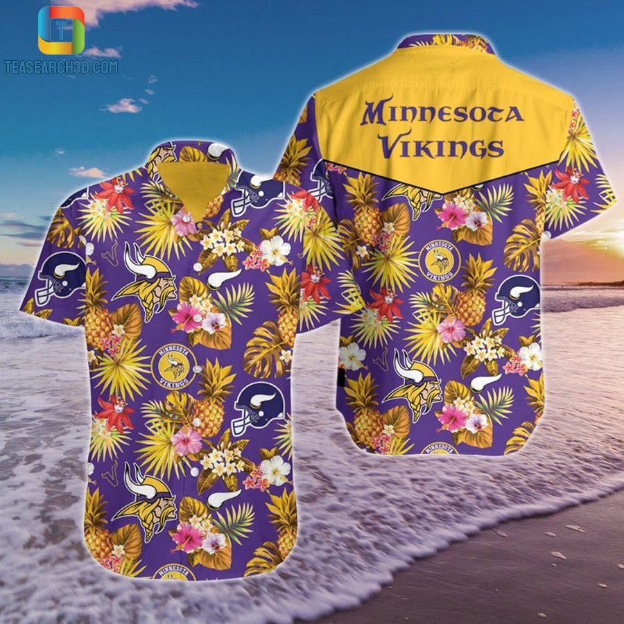 Minnesota vikings pineapple nfl football hawaiian shirt