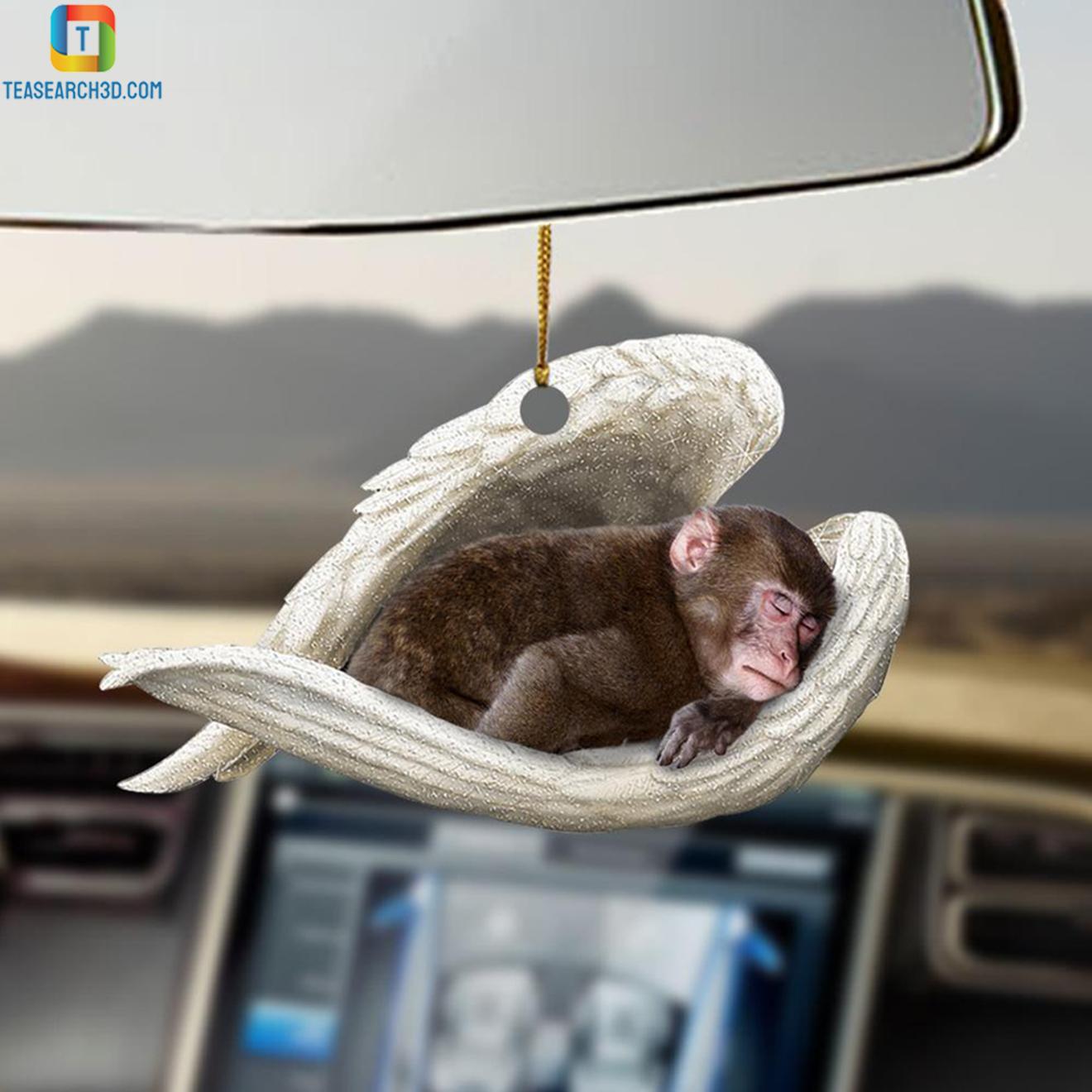 Monkey sleeping angel car hanging ornament 2