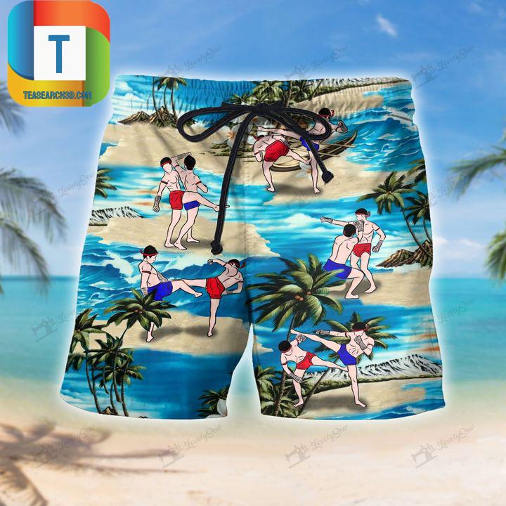 Muay thai on beach beach short