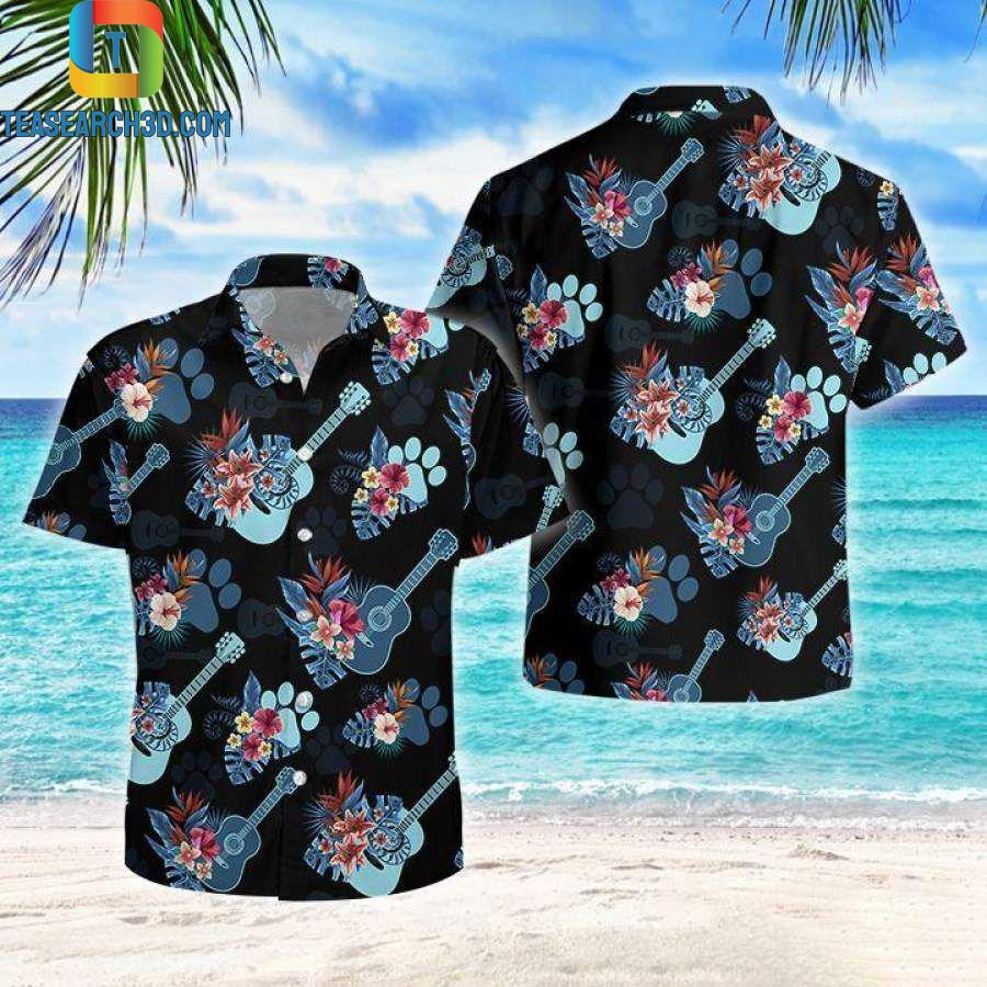 Music Guitar Love Tropical Hawaiian Aloha ShirtMusic Guitar Love Tropical Hawaiian Aloha Shirt
