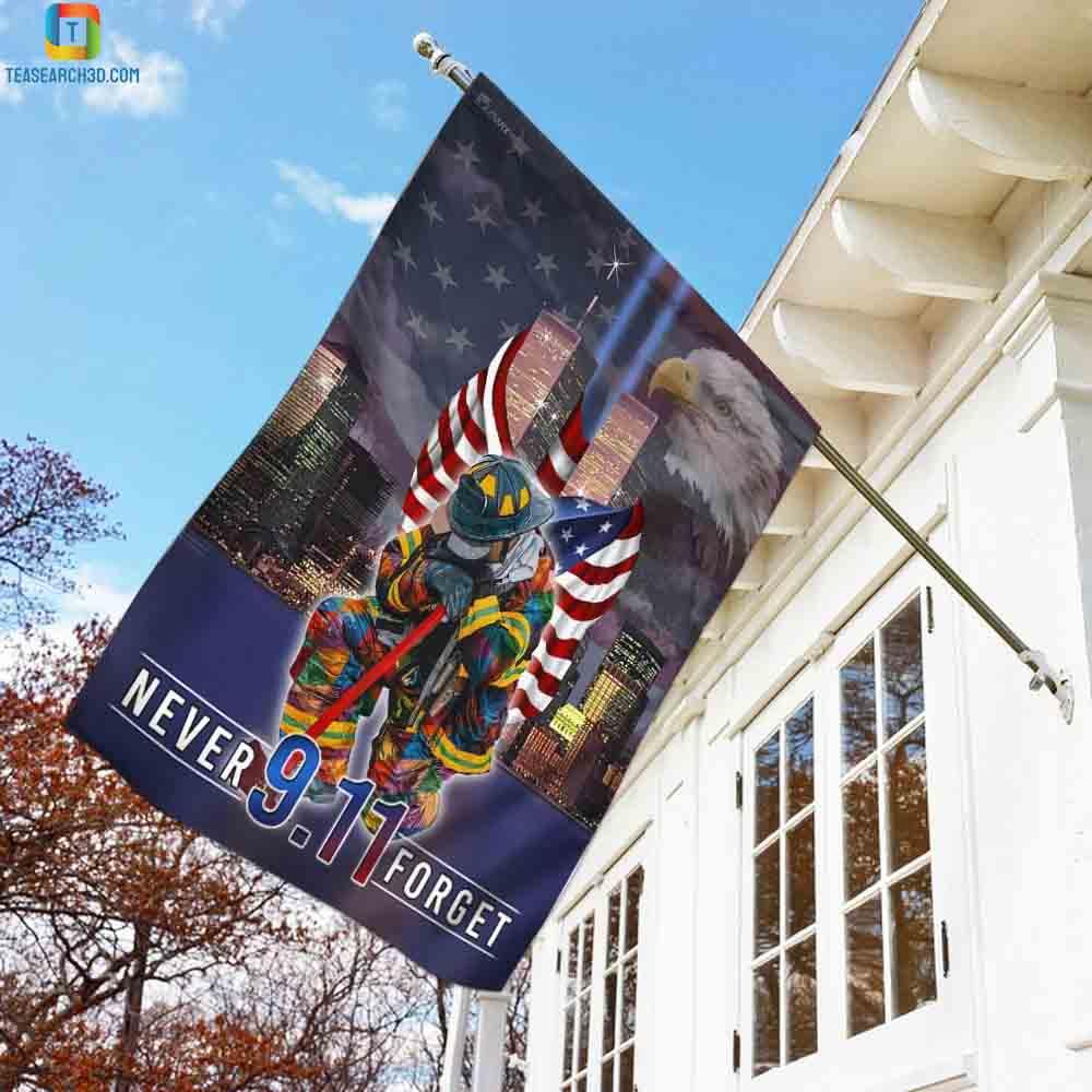 Never forget september 11th american flag 1