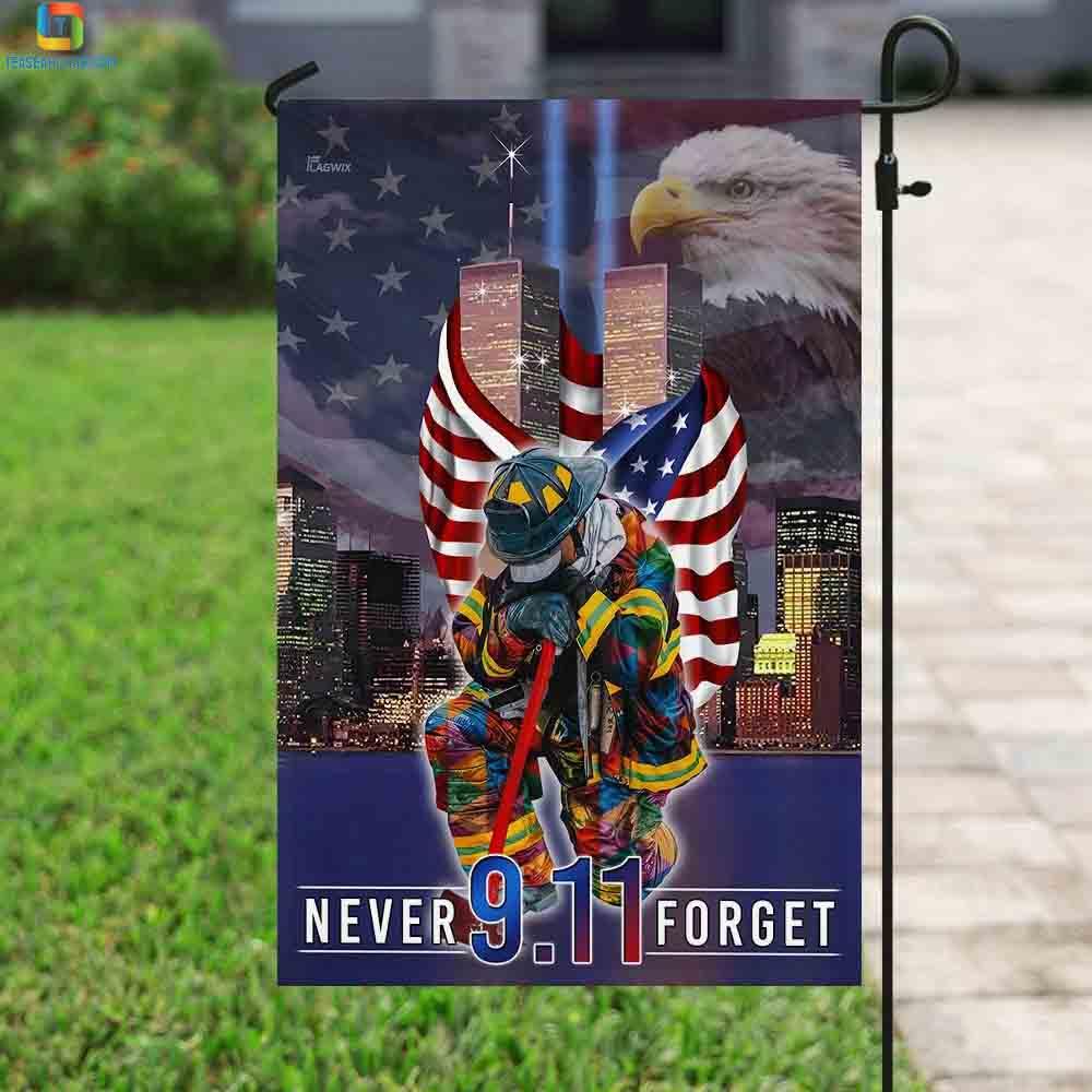 Never forget september 11th american flag 2