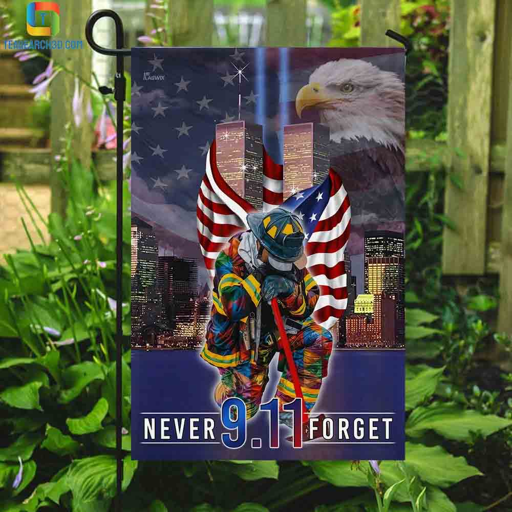 Never forget september 11th american flag 3