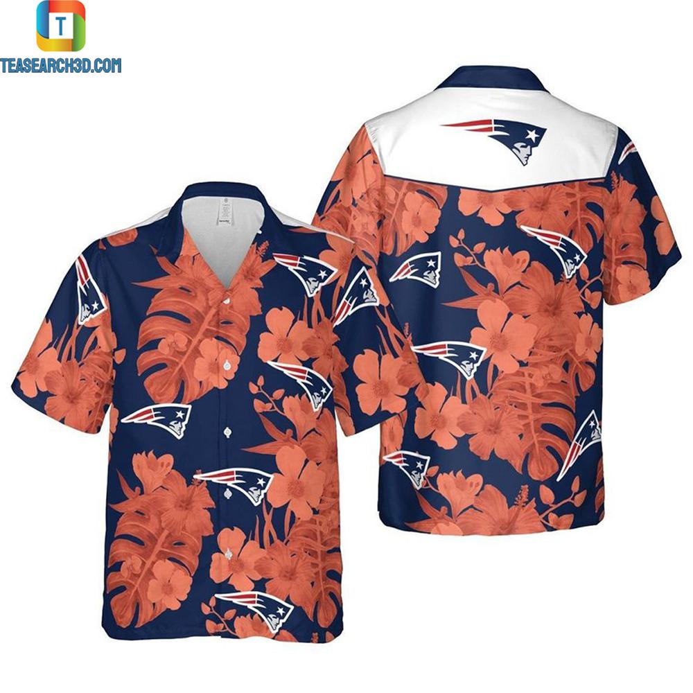 New england patriots greater boston nfl football hawaiian shirt 2