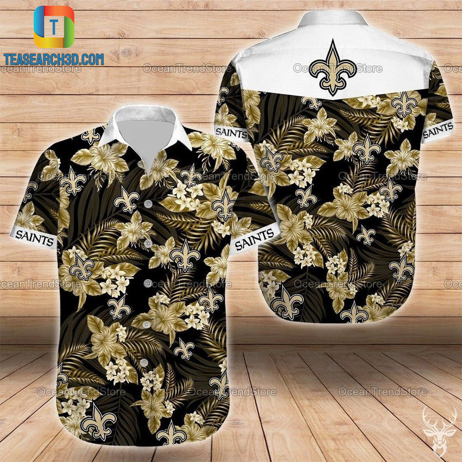 New orleans saints nfl football hawaiian shirt