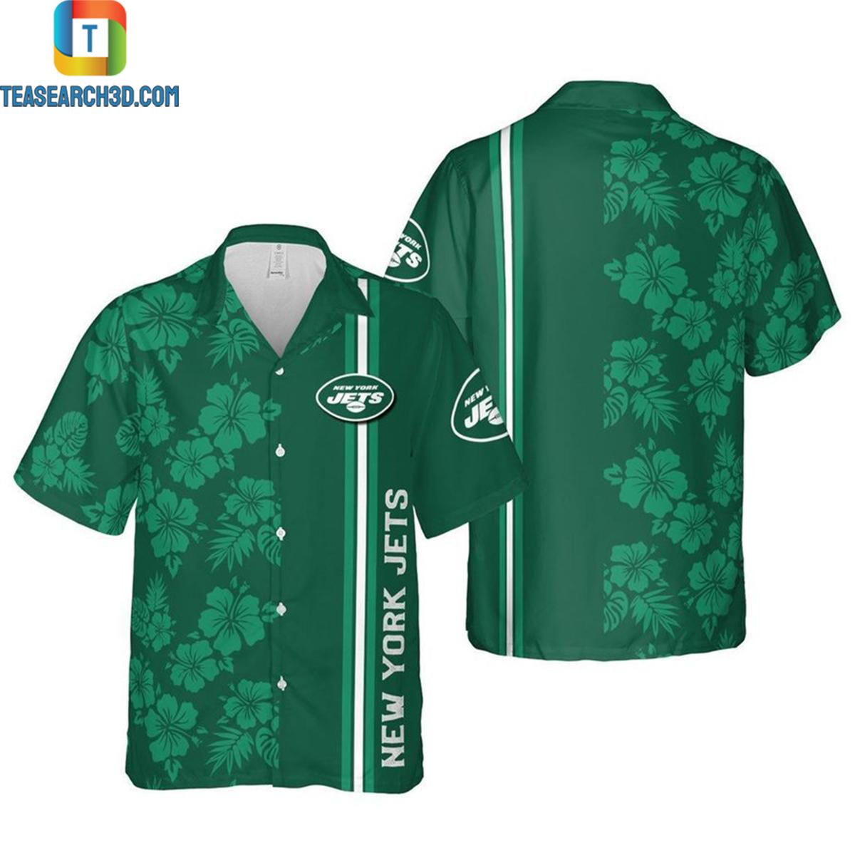 New york jets nfl football hawaiian shirt 2