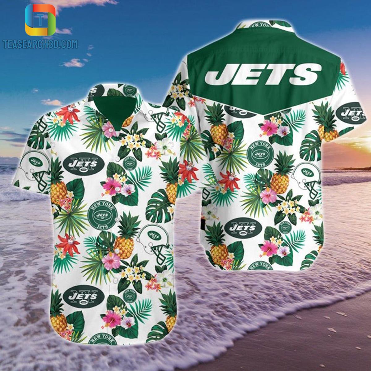 New york jets pineapple nfl football hawaiian shirt 2