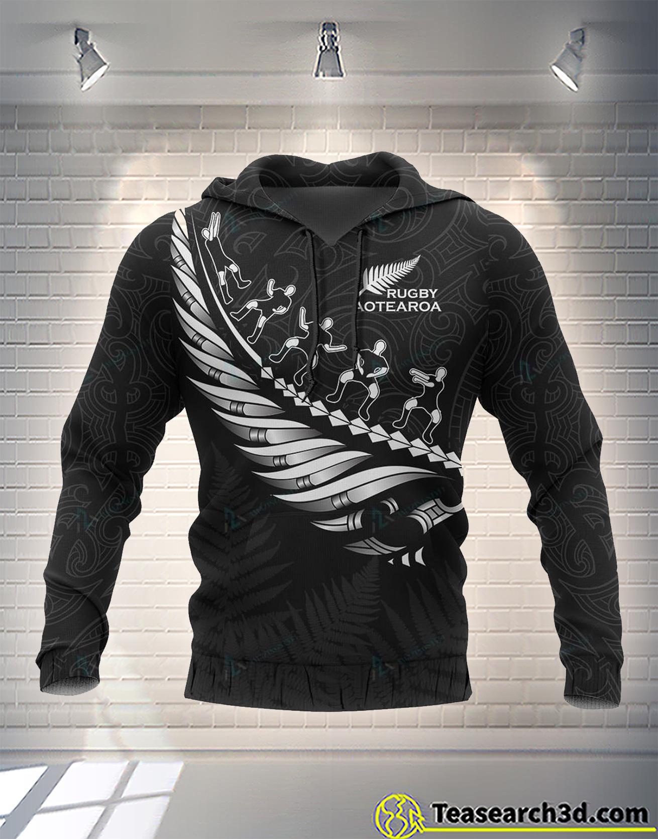 New zealand aotearoa koru maori fern ruby 3d all over printed hoodie