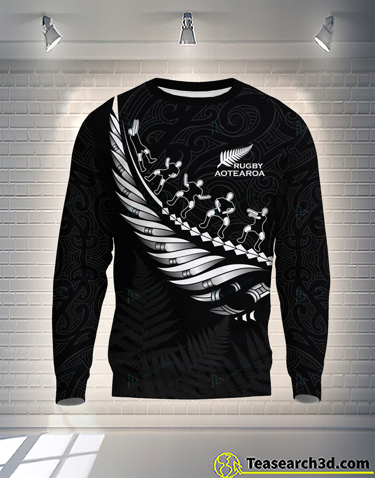 New zealand aotearoa koru maori fern ruby 3d all over printed sweatshirt