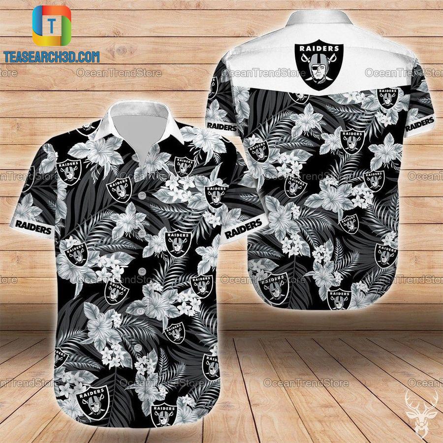 Oakland raiders nfl football hawaiian shirt