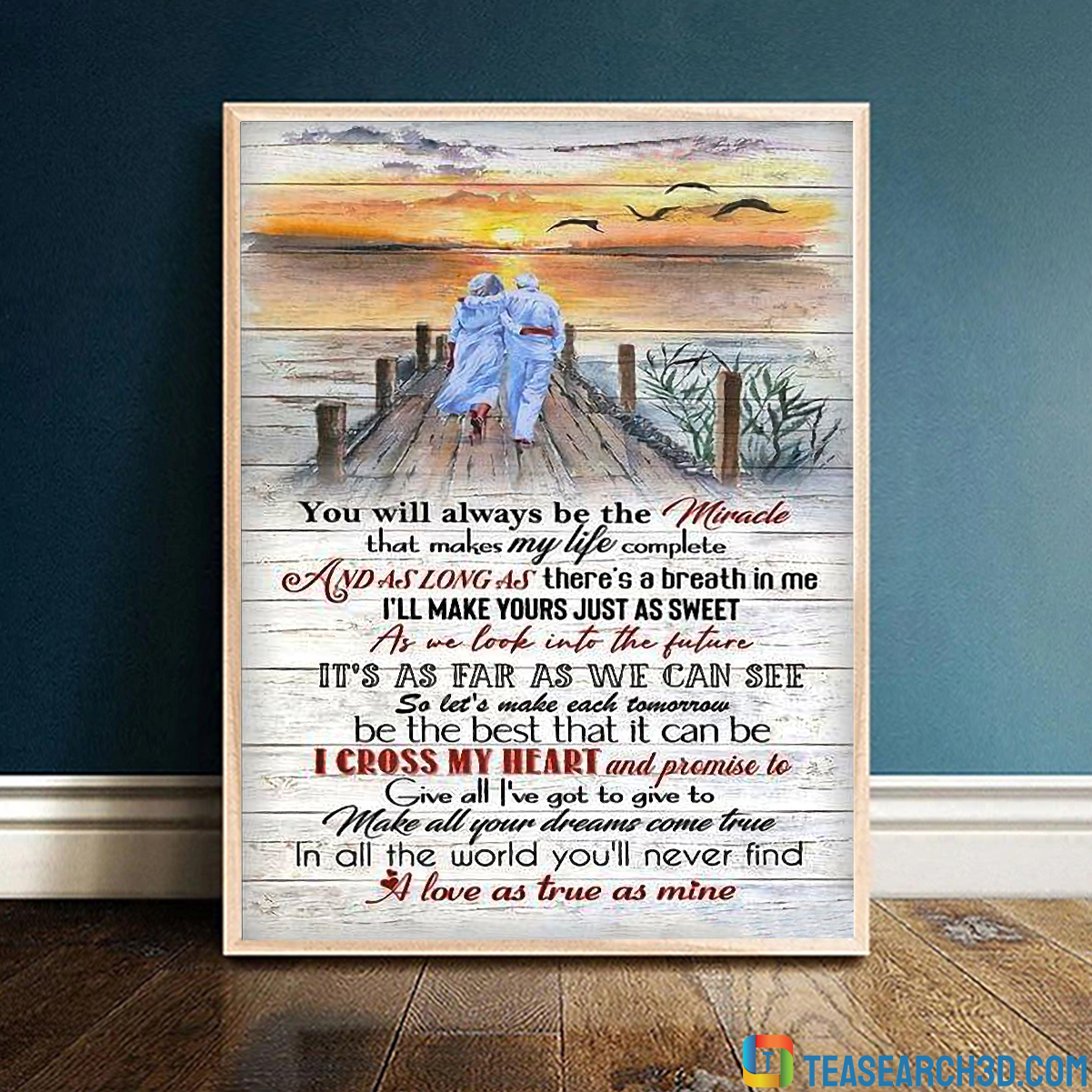 Old couple george strait you'll always be the miracle poster
