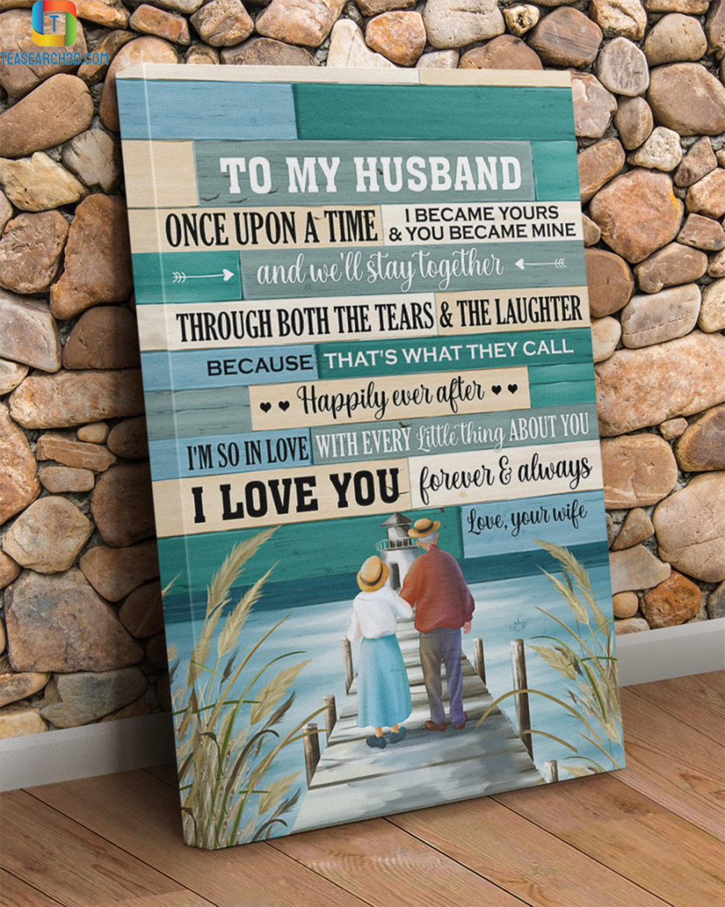 Old couple once upon a time canvas prints large
