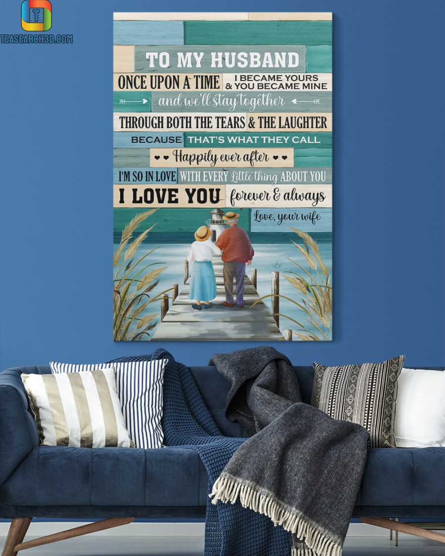 Old couple once upon a time canvas prints medium