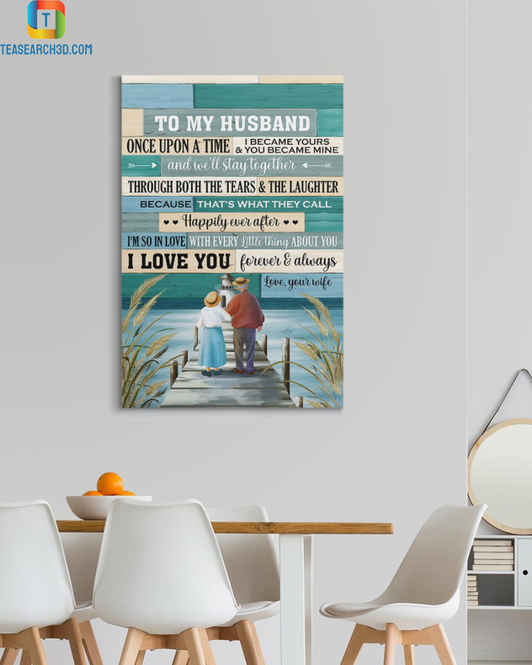 Old couple once upon a time canvas prints small
