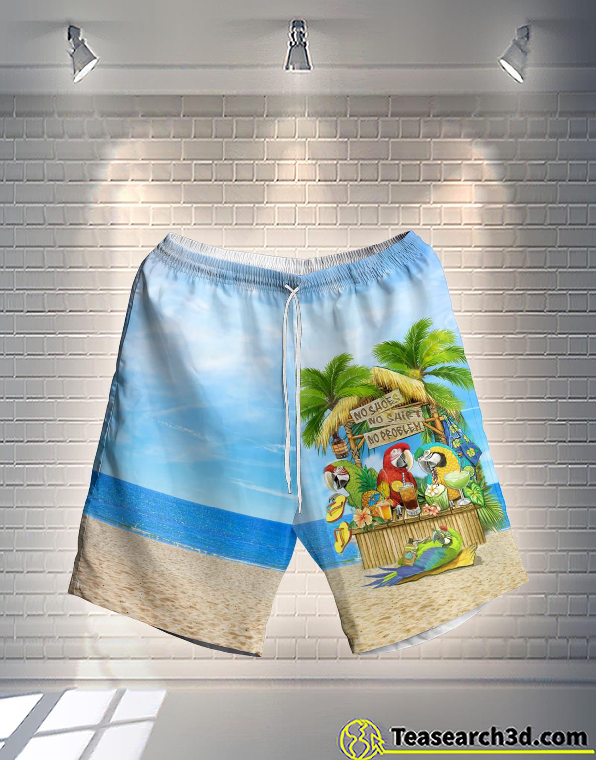 Parrot No Shoes No Shirt No Problem Hawaiian Short
