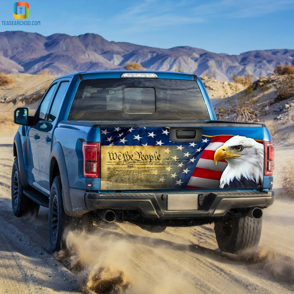 Patriotic eagle truck tailgate decal sticker 1