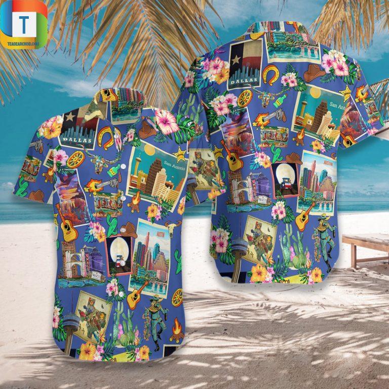 Pattern Texas Style Hawaiian Shirt Beach Short