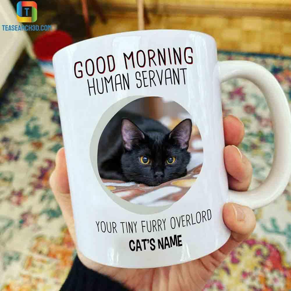 Personalized custom name good morning human servant mug 1