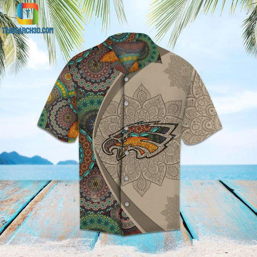 Philadelphia eagles mandala nfl football hawaiian shirt
