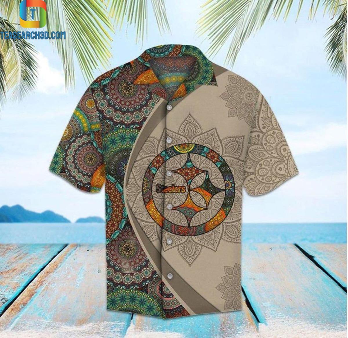 Pittsburgh steelers mandala nfl football hawaiian shirt 2