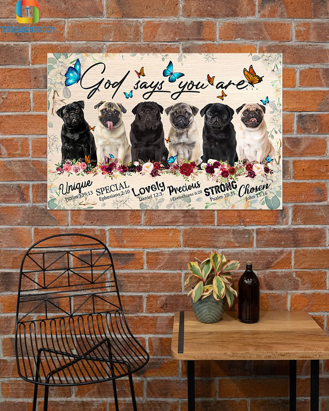 Pugs god says you are poster A3