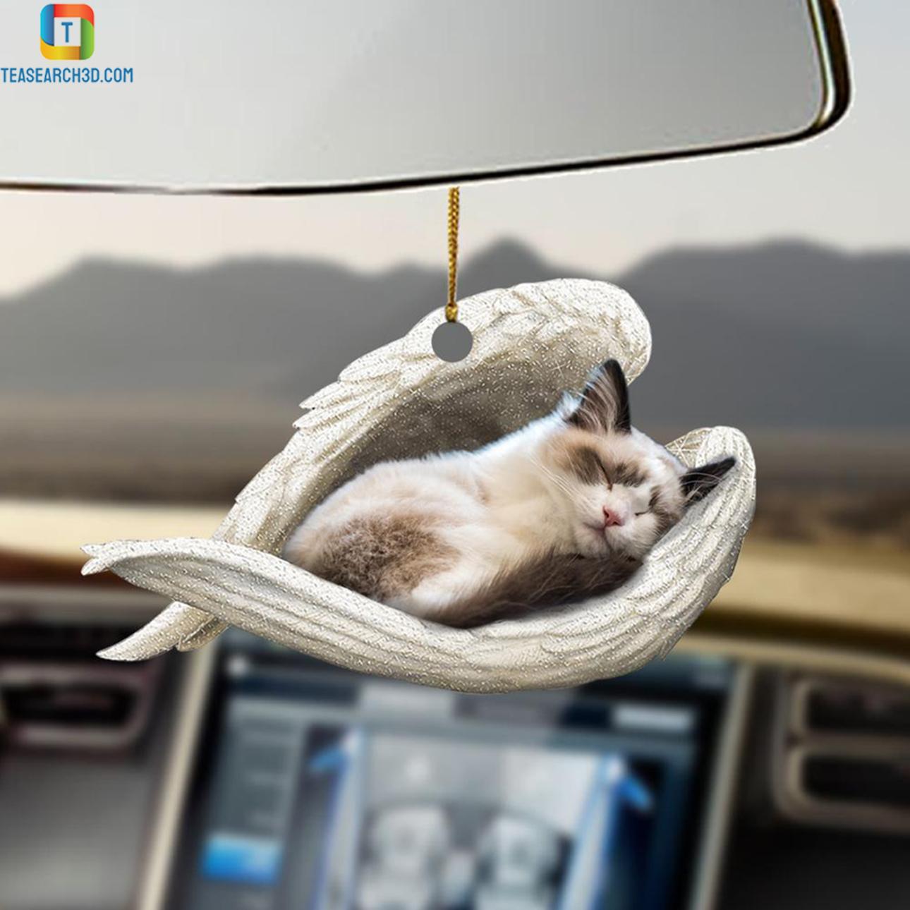 Ragdoll sleeping angel car hanging ornament 2