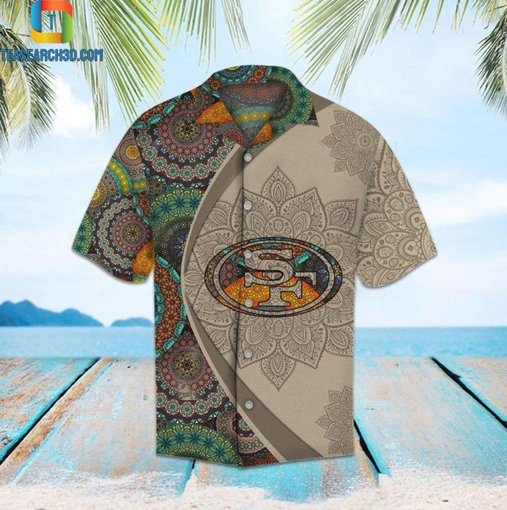San francisco 49ers mandala nfl football hawaiian shirt 1
