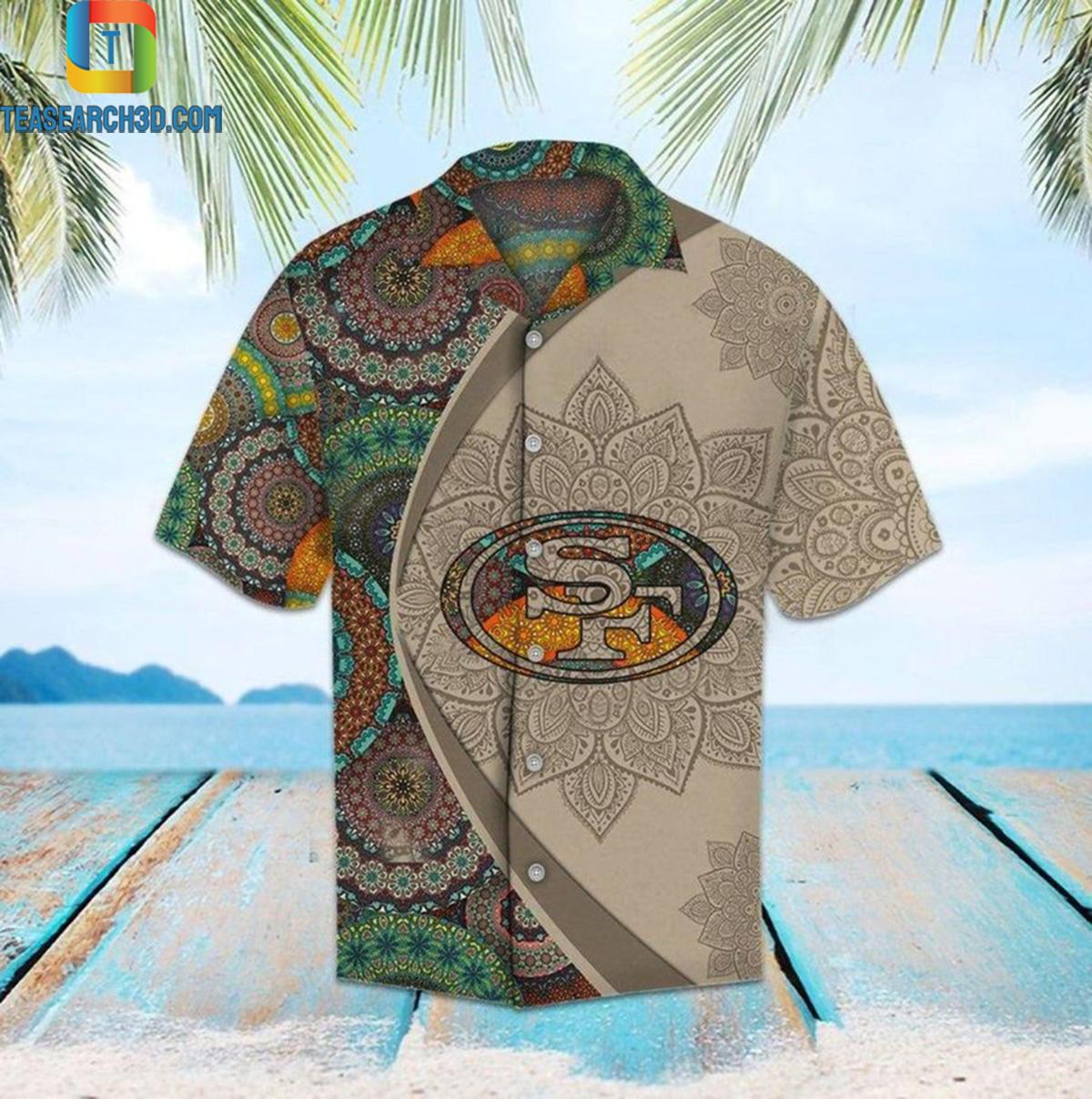 San francisco 49ers mandala nfl football hawaiian shirt 2