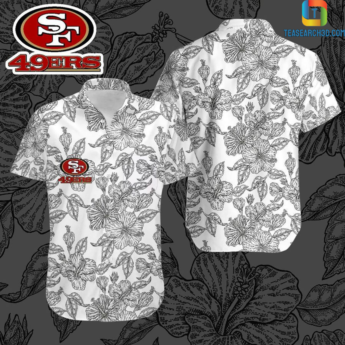 San francisco 49ers nfl football hawaiian shirt 2