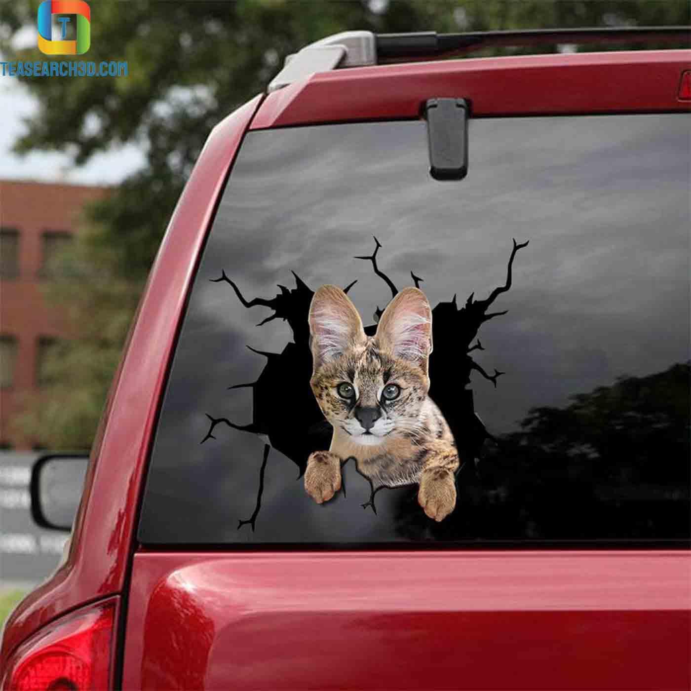 Savannah cat crack car decal sticker 2