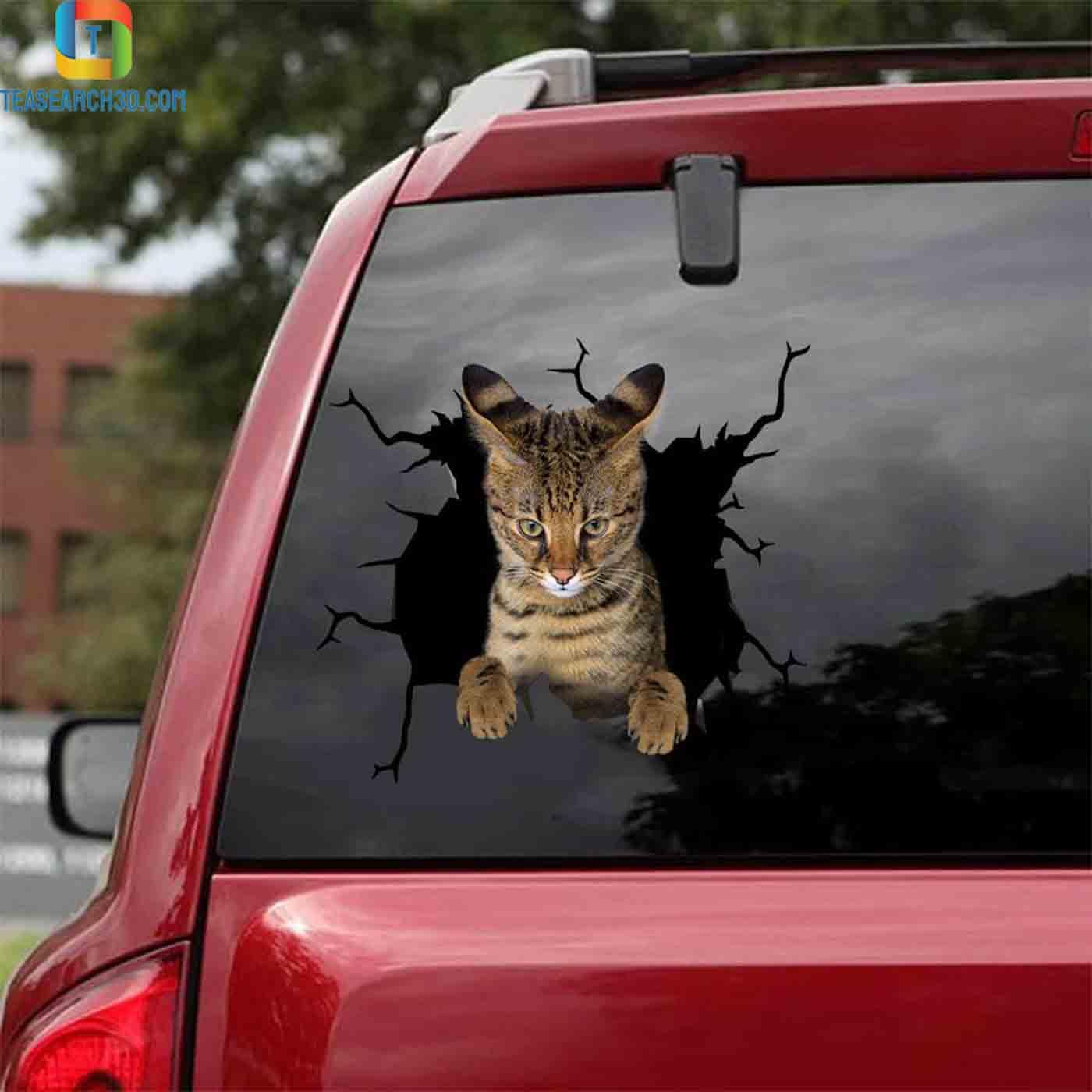 Savannah crack car decal sticker 2