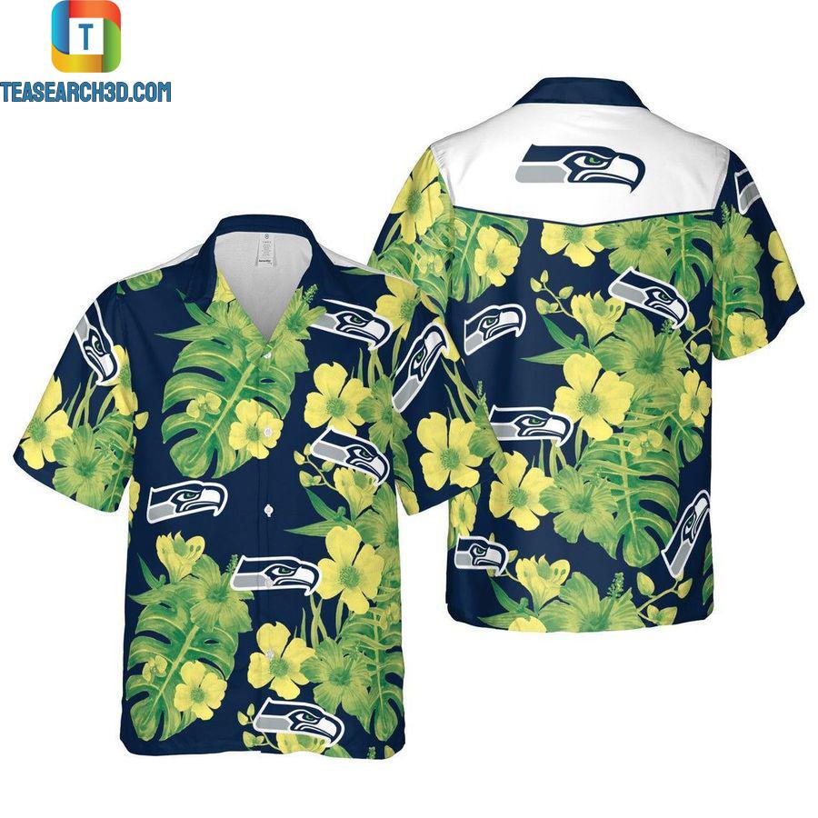 Seattle seahawks floral nfl football hawaiian shirt