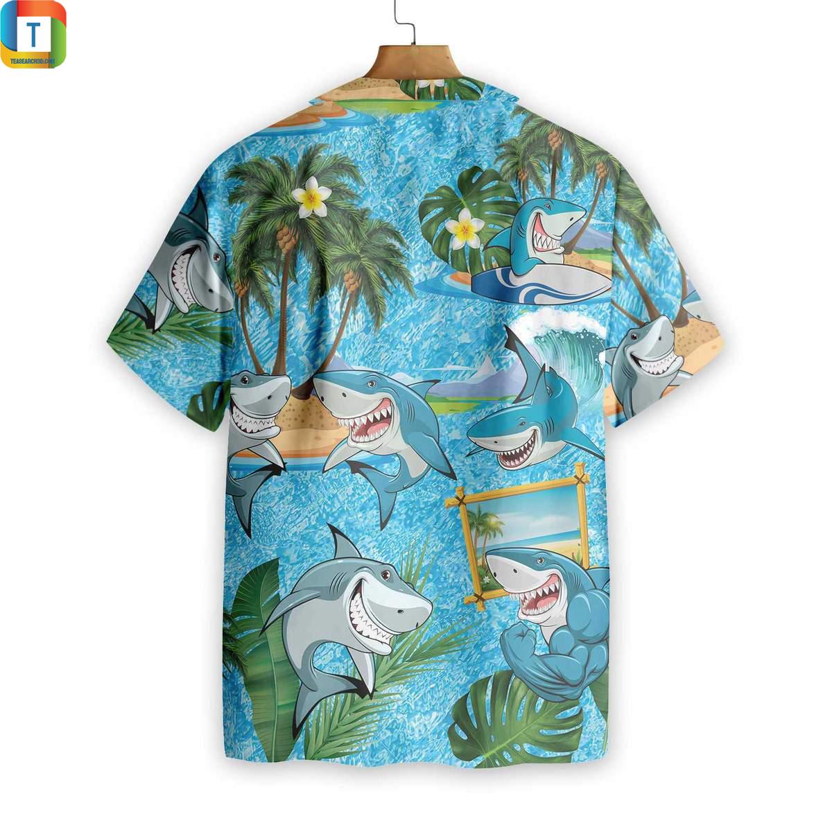 Shark Pattern Hawaiian Shirt 1