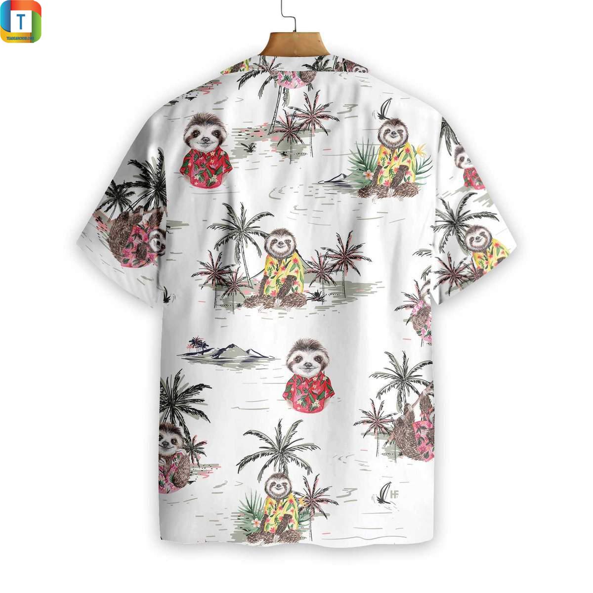 Sloth Pattern Hawaiian Shirt 1