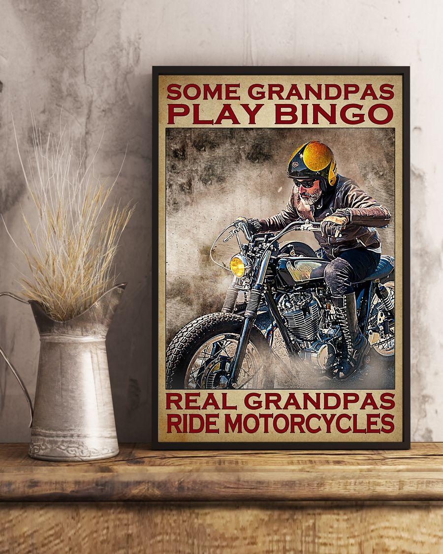Some grandpas play bingo real grandpas ride motorcycles poster A1