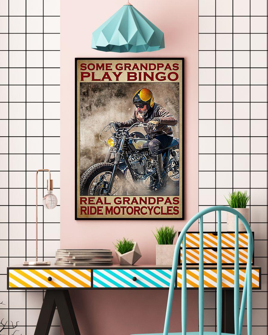Some grandpas play bingo real grandpas ride motorcycles poster A2