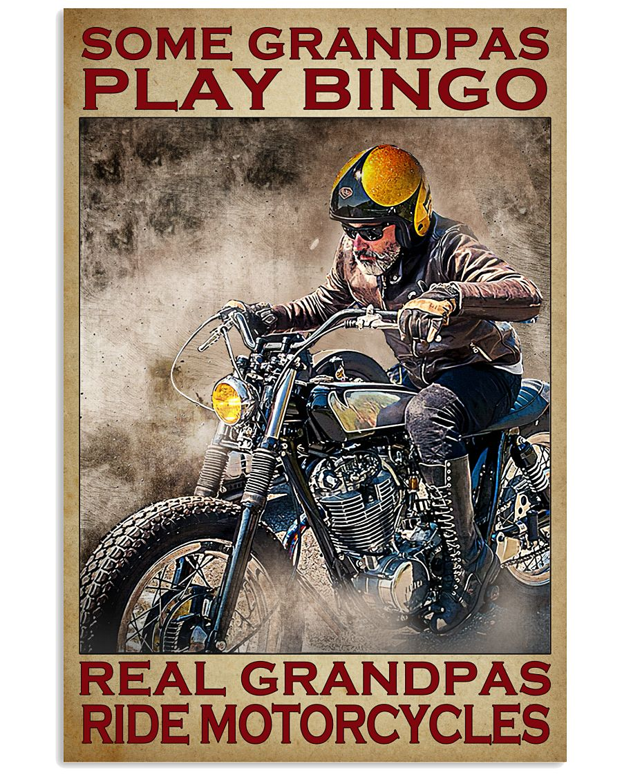 Some grandpas play bingo real grandpas ride motorcycles poster A3