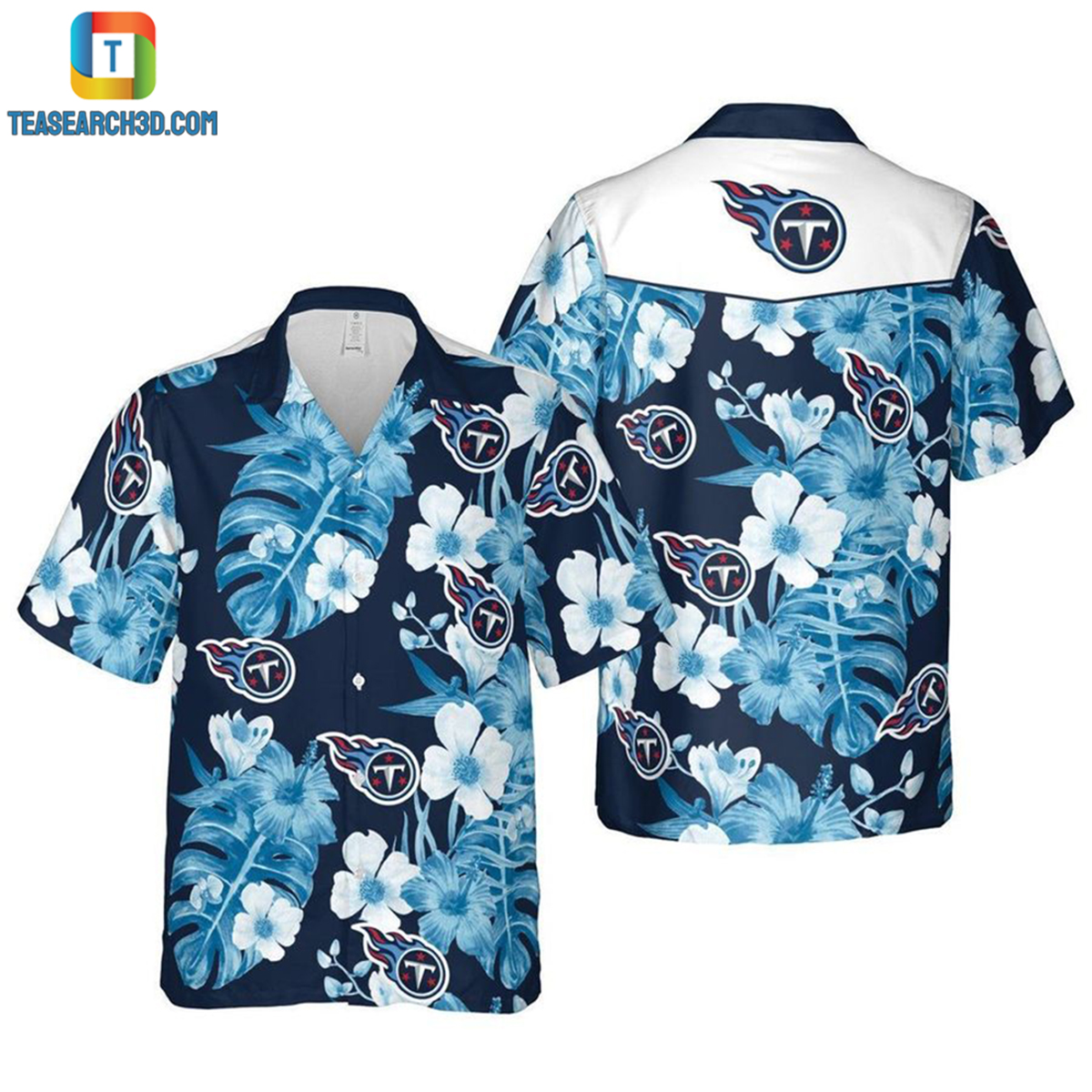 Tennessee titans nfl football hawaiian shirt 2