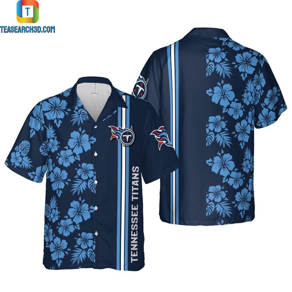 Tennessee titans nfl football nashville tennessee hawaiian shirt 2