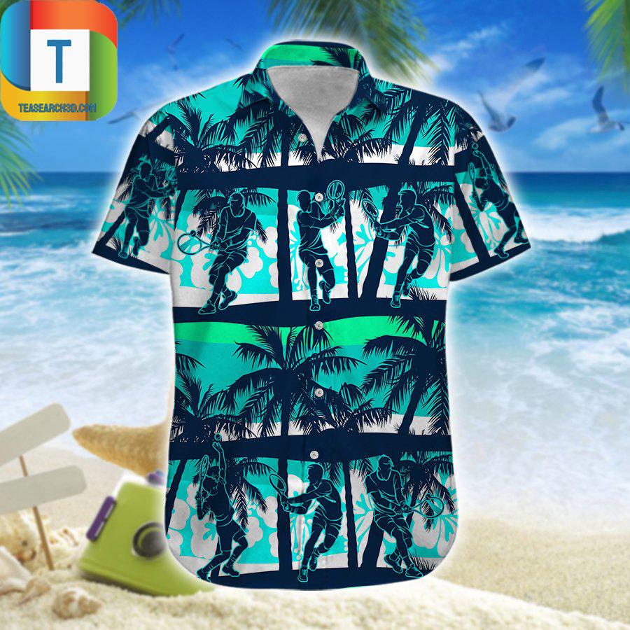 Tennis hawaiian shirt