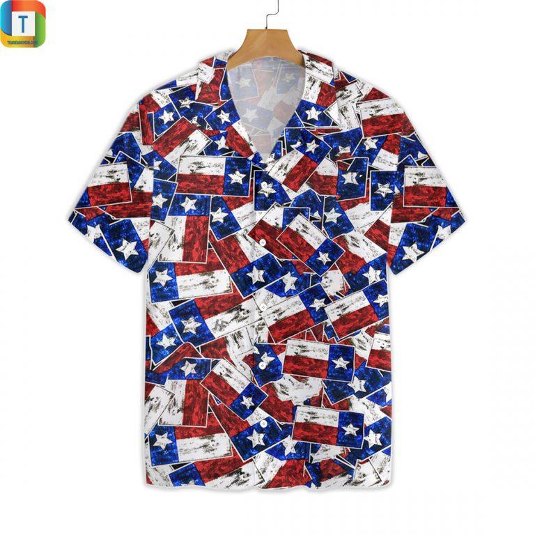 Texas Pattern Flag Style Hawaiian Shirt Beach Short