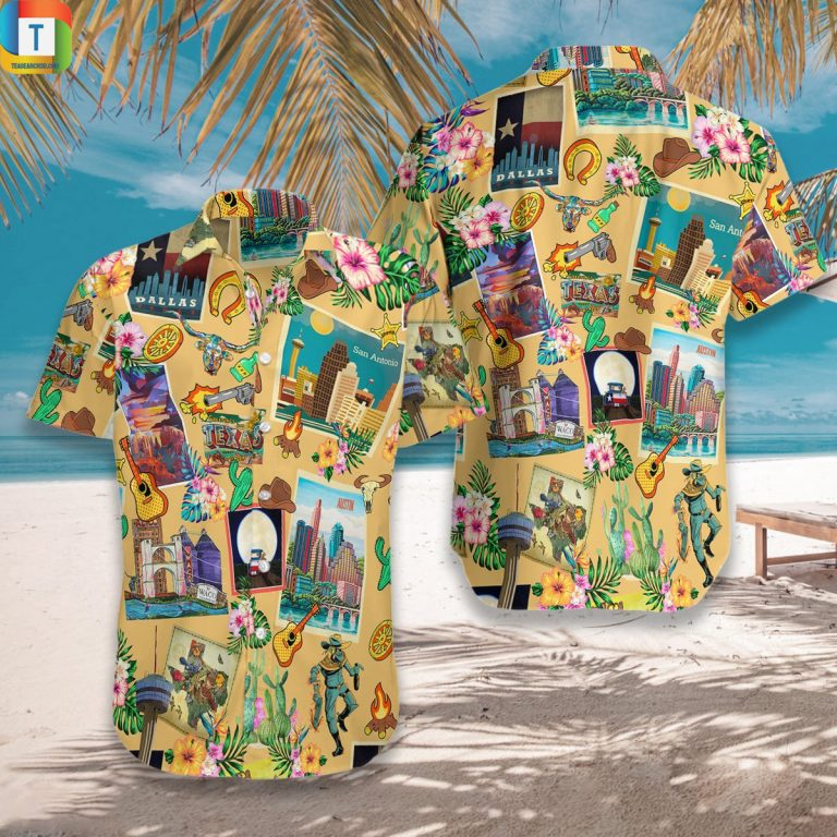 Texas Pattern Style Hawaiian Shirt Beach Short