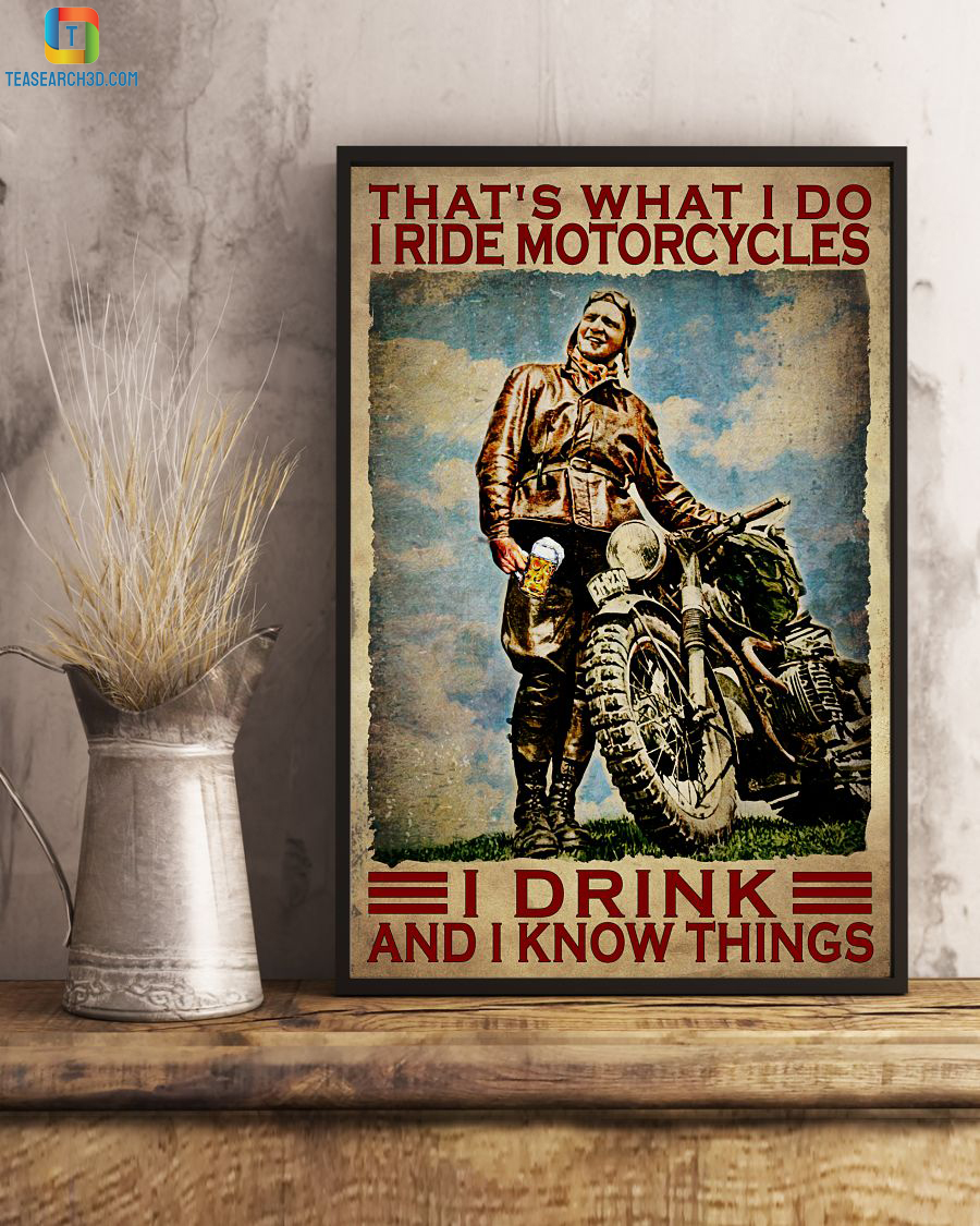 That's what I do I ride motorcycles I drink and I know things canvas small